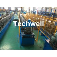 Quality Forming Material PPGI , Aluminum Gutter Roll Forming Machine With Forming Speed 0-15m/min for sale