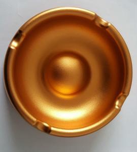 Buy cheap Custom Golden Anodized CNC Machining Parts Aluminum Ashtray Commodity from wholesalers