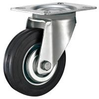 "Quality Industrial Swivel Plate Caster With Soft Rubber Wheel 3"" Thru 8"" Loading Weight 500 LBS for sale"