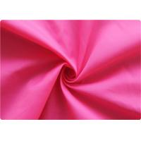 Quality Professional pink Polyester Elastane Fabric Garment Cloth 210-270GSM for sale
