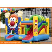 Quality Children Game Clown Inflatable Bouncer Slide For Backyard / Zoo / Water Park for sale