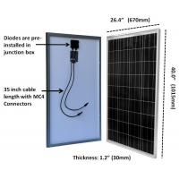 Quality TPT Backsheet Residential 100W  Polycrystalline Solar Module 3.2mm Tempered Glass for sale