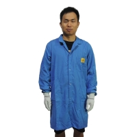 Quality 150gsm Cotton ESD Smock for sale