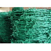 Quality RAL Colors Barbed Wire Mesh Fencing For Boundary / Railway , Anti Corrosion for sale