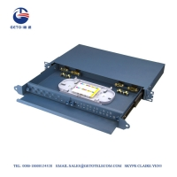 Quality CATV 24 Port FC ST Fiber Optic Patch Panel Cold Rolled Plate for sale
