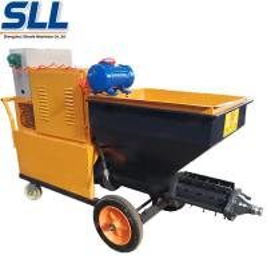 China 380V/7.5W CE Certificate Gypsum Cement Rendering Spray Machine Adhesive Plaster Machine on sale