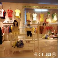 Buy contemporary invisible wall attachment of various size clothes store wood display shelf at wholesale prices