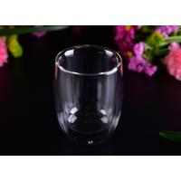 Quality Superior 220ml Hot Double Wall Drinking Glasses LFGB CA65 FDA Certification for sale