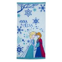 Quality Cute Children's Cotton Beach Towels With Frozen Elsa Sisters Pattern for sale