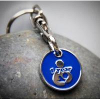 Quality Metal Personalised Trolley Coin Keyring , Promotional Shopping Cart Token Key Chains for sale