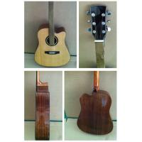 """Quality 41"""" Deluxe Spruce Solidwood Vintage Wood Acoustic Guitar TP-AG61 for sale"""