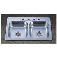 33x22 Inch Double Bowl Stainless Steel Topmounted Kitchen