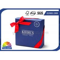 Quality Custom Logo Cardboard Paper Rigid Gift Box Ribbon Bowknot Decorated SGS Approval for sale