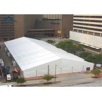 Quality Large PVC Fabric Warehouse Tents A Frame  Shape Fire Resistant  White for sale