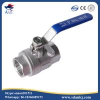 Quality High quality 2 pcs thread connection flat lever handle cf8m stainless steel water gas ball valve for sale