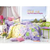 Quality King Size / Twin Size Four Piece Cotton Bedding Sets Reactive Printing for sale
