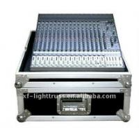 Quality Aluminum Flight Case With Wheels / Handles Plastic 2U to 24U Rack Case for sale