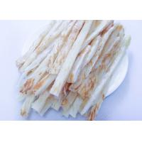 Quality Salty Dried Shredded Squid Strip Thailand , Grill Roasted Slip Squid for sale