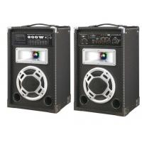 Quality Wooden Black Wireless PA Speakers For Home Party And Personal Entertainment for sale