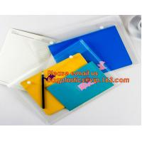 Quality OEM Office stationery filing supplies plastic document pp envelope carrying file folder bag with button closure for sale