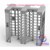China Two door access Prison Full Height turnstile security gates RFID card and Fingerprint Control on sale