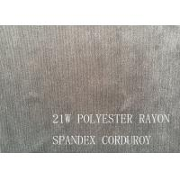Buy 90%P 8%N 2%SP 21W POLYESTER RAYON SPANDEX CORDUROY FOR COAT at wholesale prices