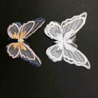 Quality Garment Accessories  Butterfly Embroidery Applique with Different Color for sale