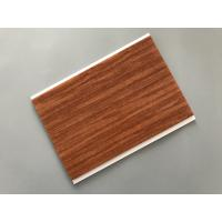 Quality Flat Ceiling Material PVC Wood Panels 200 × 6mm Size Easy Install / Cleaning for sale