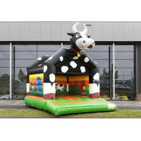 Buy cheap Double Stick Pvc Commercial Inflatable Bounce Cow ,Waterproof And Firproof Inflatable Cow Bouncer For Kids from wholesalers