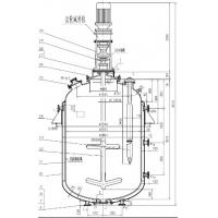 Quality BAO STEEL 10000L Glass lined Carbon Steel Reactor for food , dye , pesticide for sale