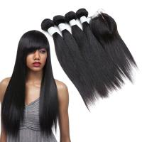 Quality Dyeable Double Wefted Real Indian Human Hair Weave Luster And Silky for sale