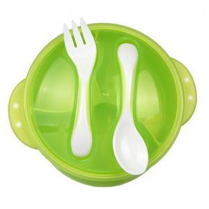 Quality Heighten Bottom Childrens Dinnerware Sets , Anti Broken Plastic Tableware Set for sale