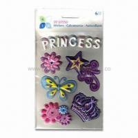 Quality Puffy Scrapbooking 3-D Stickers, Made of Vinyl and Sponge, Easy to Stick and Remove for sale