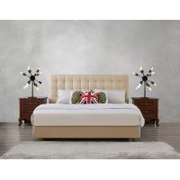 Buy Leather / Fabric Upholstered Headboard Bed for Apartment Bedroom interior fitment by Leisure Furniture with Wooden table at wholesale prices