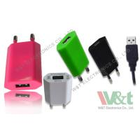 Quality 2 Pin Plug Portable Mini AC DC USB Charger For Bluetooth Speaker , CB / KC / GS Approved for sale
