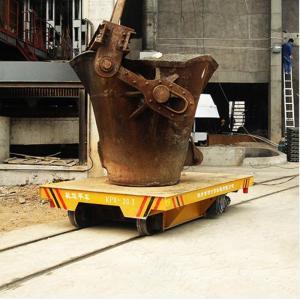Quality Large capacity bay to bay matel slag pot trailer on turning rail for sale