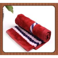 China China supplier yarn dyed jacquard terry cotton hand towel with your logo on sale