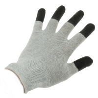 Quality Antistatic Cleanroom Lab 10e7 Ohms ESD Dotted Gloves for sale