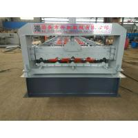 Quality 4kw 380V PPGI Steel Tile Type Colorful Stone Coated Metal Roof Tile Roll Forming Machine for sale