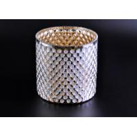 Quality Create Diamond Shining Votive Glass Candle Holder With Woven Pattern for sale