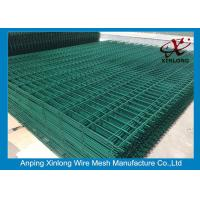 Quality Green Pvc Coated Double Wire Fence For High Security Area 50*200mm Aperture for sale