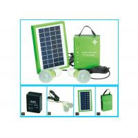 Quality Normal Portable Solar Panel Charger With 5w Solar PV Modules And One Battery 2 Bulbs for sale