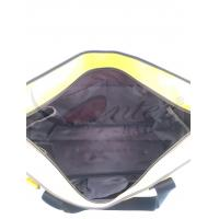 Buy Large Travel Tote Bags With Zipper Yellow Color 300D Polyester Material at wholesale prices