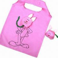 Quality Polyester bags, fashion rabbit shape, for shopping/promotion, customized colors/sizes are accepted for sale