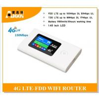 Quality Wifi sharing portable 4g wireless 4g router with 2000mAH for sale