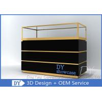 Quality Custom Jewelry Showcases With Large Storage In Black Painting for sale