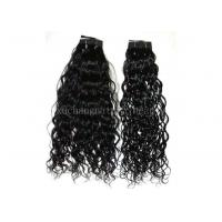 China 100% Water Wave Non Remy Brazilian Human Hair Extensions Black 14 Inch on sale