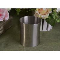 Quality 23 Oz Silver round metal candle holder bulk with Lid , customized shapes for sale