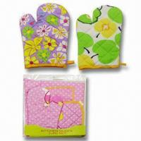 Quality Oven Gloves, Made of 100% Cotton, Various Designs are Available for sale