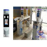 China Workplace Entry Tripod Turnstile Gate Non Contact Face Recognition With Body Temperature Measure on sale